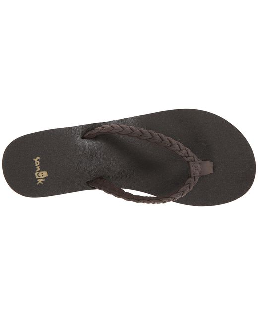 Sanuk | Brown Yoga Braided Wedge | Lyst