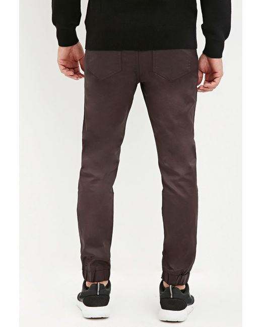 Forever 21   Purple Coated Chino Joggers for Men   Lyst