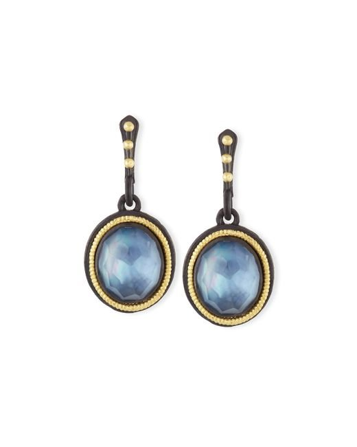 Armenta | Blue Old World Triplet Oval Drop Earrings | Lyst