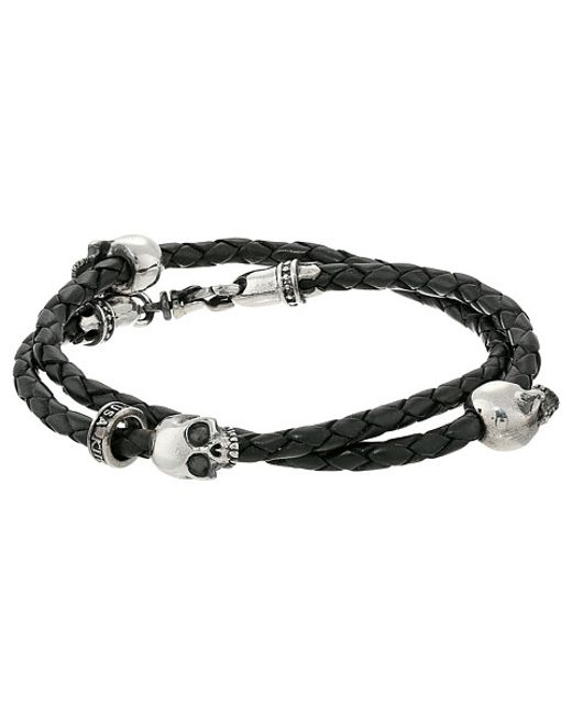 King baby studio thin braided black leather w hamlet for King baby jewelry sale