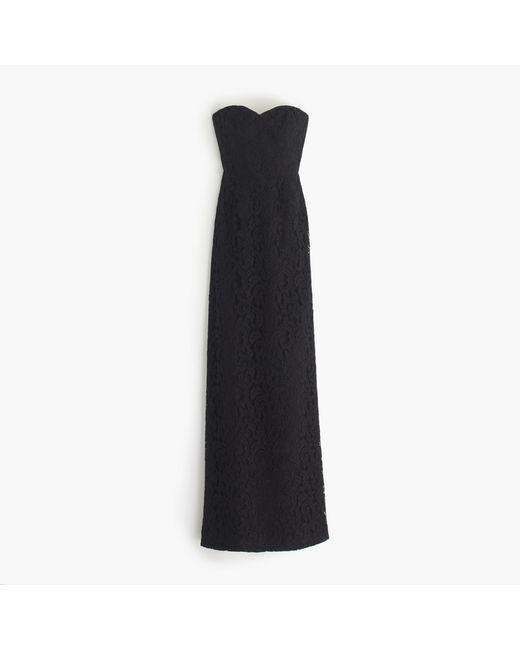 J.Crew   Black Natasha Long Dress In Leavers Lace   Lyst
