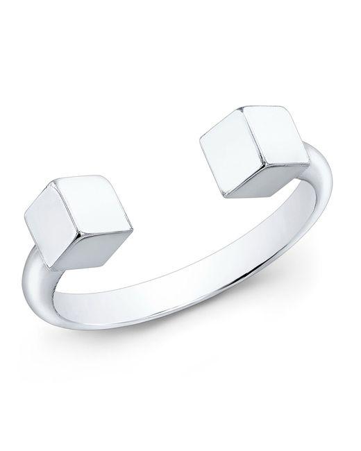 Vita Fede | Metallic Ultra-mini 24k Sterling Silver Cubo Ring | Lyst