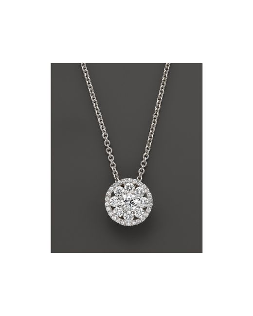 Roberto Coin | Diamond Pendant Necklace In 18k White Gold, 16"