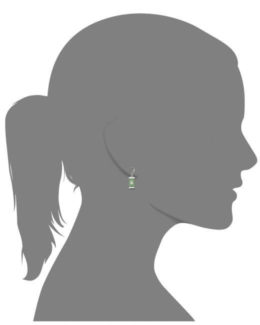 Macy's | Metallic Sterling Silver Earrings, Jade Drop Earrings | Lyst