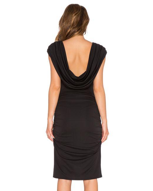Bcbgmaxazria Stelah Draped Sheath Dress: Bcbgmaxazria Kylia Drape Back Dress In Black