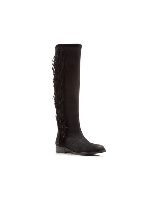 Sam Edelman Josephine Fringe Tall Boots In Black