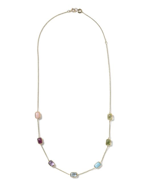 Ippolita | Multicolor 18k Gold Rock Candy Mini Gelato Rectangle Station Necklace | Lyst
