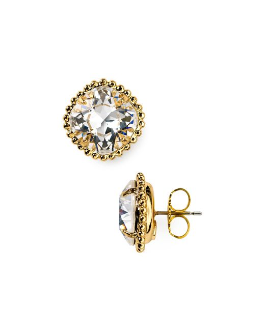 Sorrelli | Metallic Round Crystal Stud Earrings | Lyst
