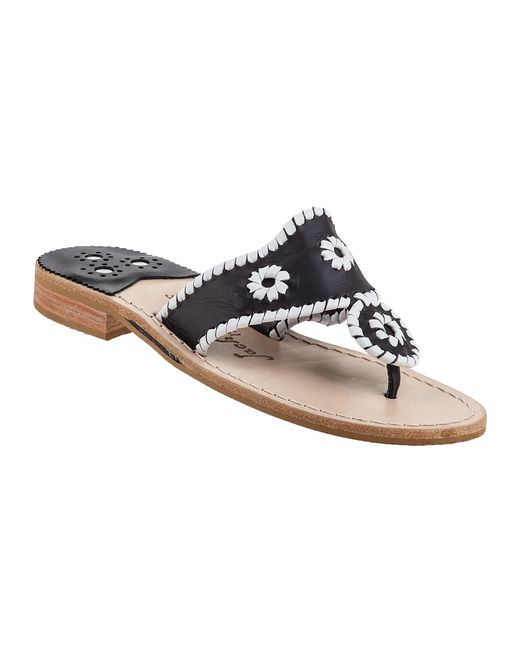 Jack Rogers   Black Palm Beach Sandals   Lyst