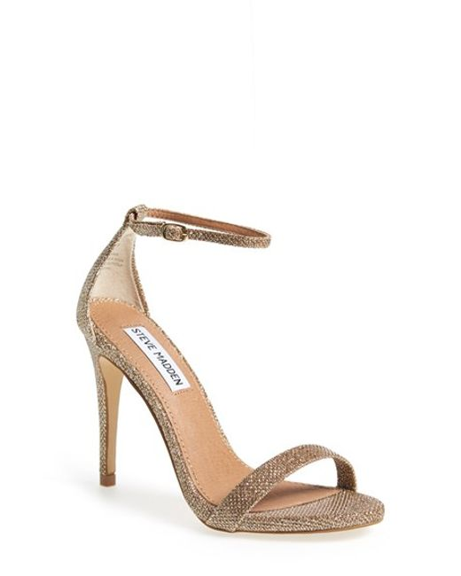 4458db8a280 Lyst - Steve Madden Stecy Natural Sandal in Metallic - Save 61%