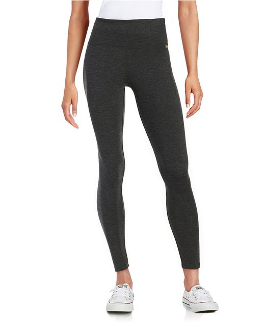 Calvin Klein | Black Stretch Knit Leggings | Lyst