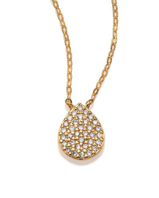 Adriana Orsini | Metallic Teardrop Pendant Necklace | Lyst