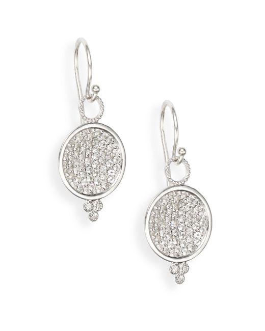 Jude Frances | Metallic White Sapphire & Sterling Silver Earrings | Lyst
