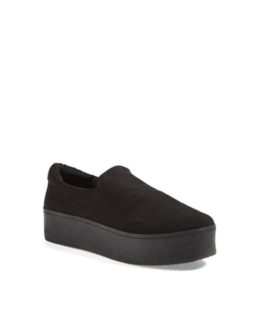 Opening Ceremony | Black 'grunge' Slip-on Platform Sneaker | Lyst