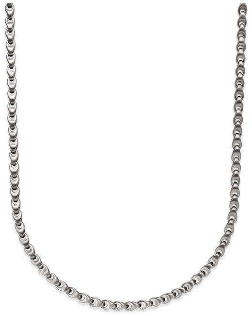 Macy's | Metallic Men's Diamond Accent Link Necklace In Stainless Steel | Lyst