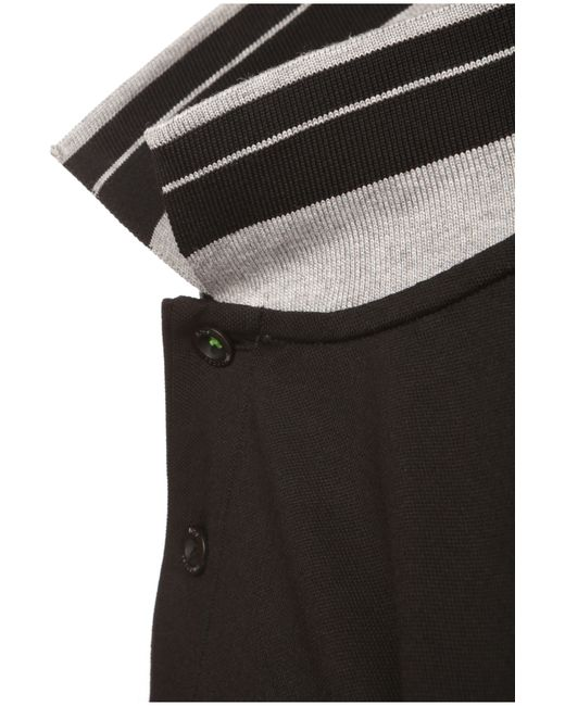 BOSS Green | Black Long-sleeved Polo Shirt 'pleesy' In Cotton Blend for Men | Lyst