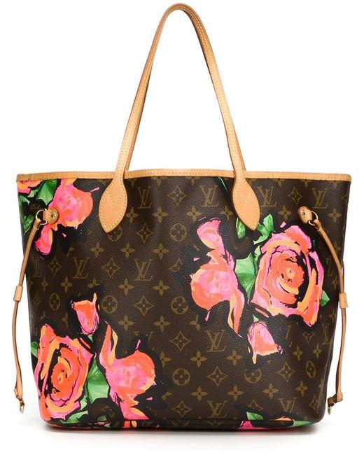 Louis Vuitton Monogram Floral Tote In Brown Lyst