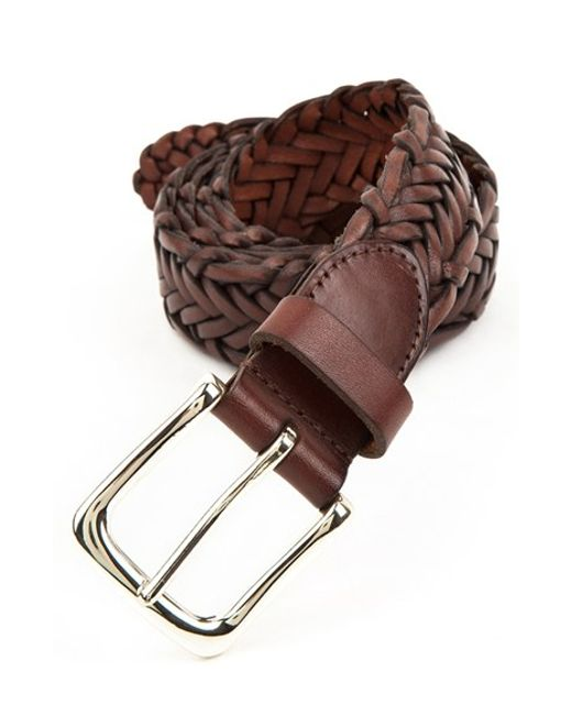 Trafalgar | Brown 'sullivan' Braided Leather Belt for Men | Lyst