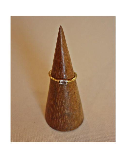 Tai | Metallic Simple Baguette Ring | Lyst
