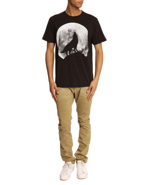 DIESEL   Black T-diego-hf Graphic-print Cotton T-shirt for Men   Lyst