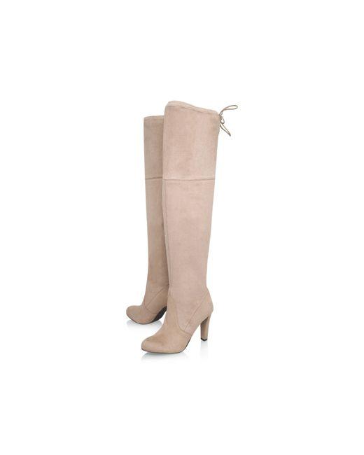 Carvela Kurt Geiger | Natural Sammy Knee High Boots | Lyst