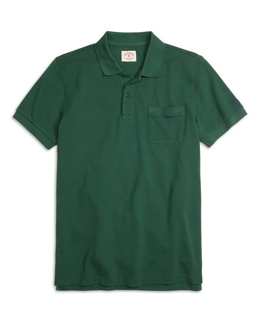 Brooks Brothers | Green Solid Pique Polo Shirt for Men | Lyst