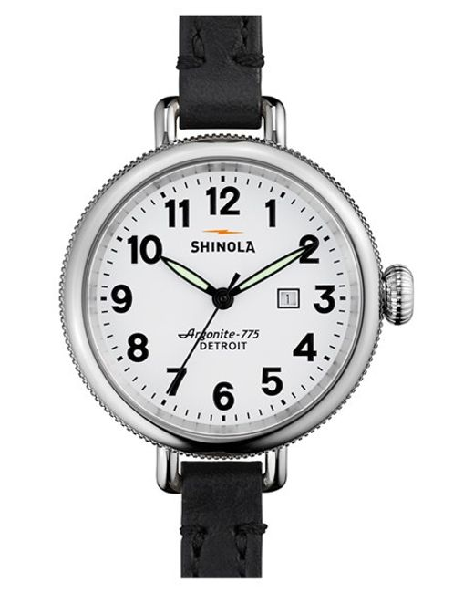 Shinola | Black 'the Birdy' Double Wrap Leather Strap Watch | Lyst