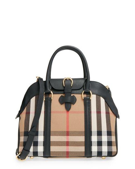 Burberry | Brown 'medium Milverton - House Check' Satchel | Lyst