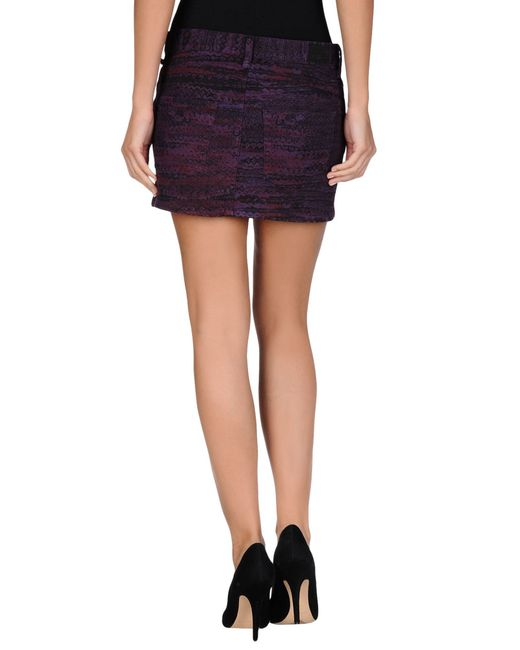 see by chlo 233 denim skirt in purple save 57 lyst