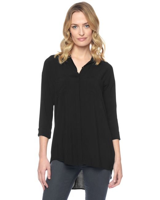 Splendid | Black Fold Back Tunic | Lyst