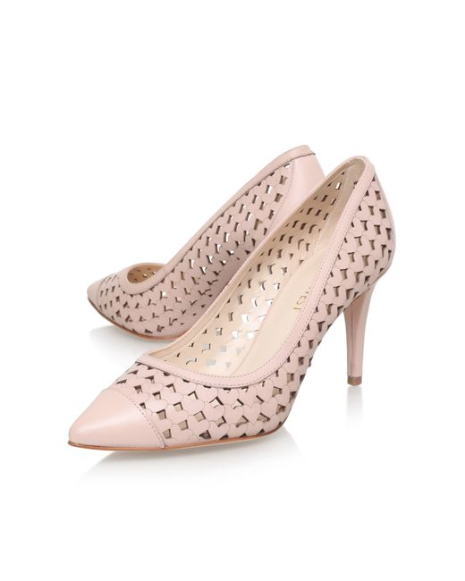 nine west porcupine high heel court shoes in pink lyst