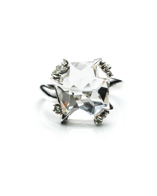 Alexis Bittar   Metallic Silver Gaze Marquis Fancy Cut Ring You Might Also Like   Lyst