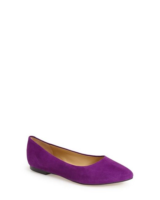 Trotters | Purple Estee Pointed-Toe Suede Ballet Flats | Lyst