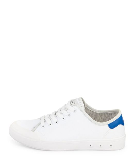 rag bone standard issue canvas lace up sneaker in white