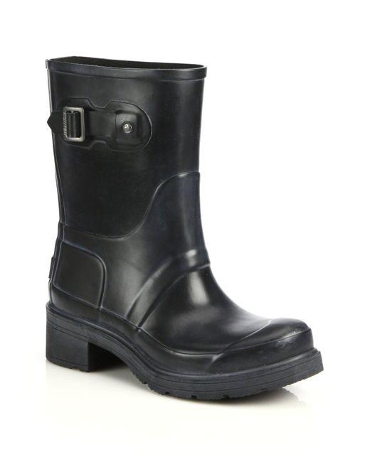 Hunter | Black Original Ankle Rain Boots | Lyst