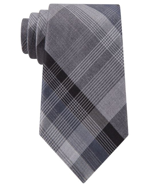 Kenneth Cole Reaction | Black Iii Color Plaid Tie for Men | Lyst