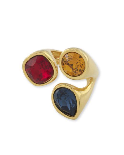 Kenneth Jay Lane | Multicolor Multi Gem Color Cluster Ring | Lyst