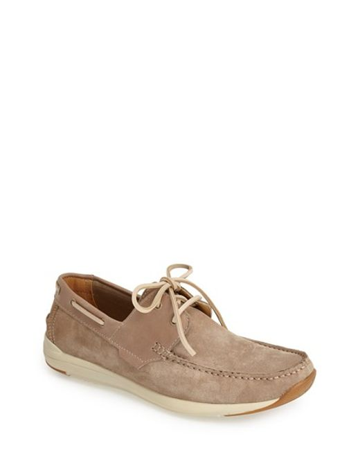 Kenneth Cole Reaction | Natural 'met-ro Station' Suede Boat Shoe for Men | Lyst
