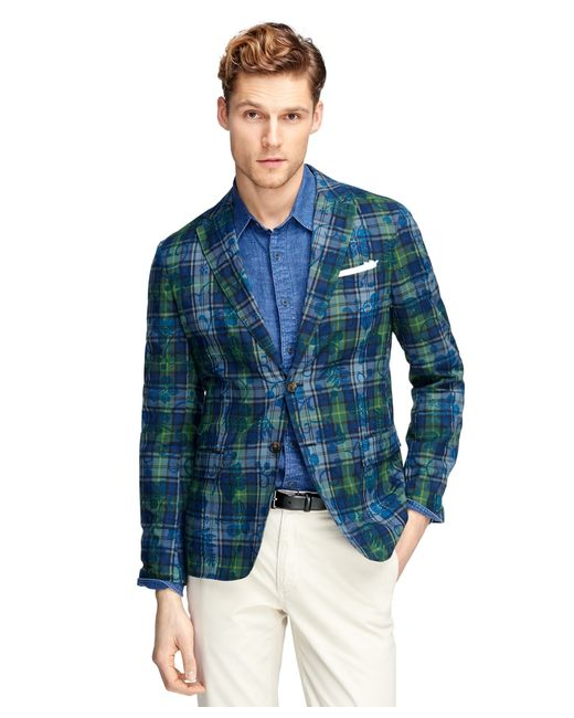 Brooks brothers Madras With Tropical Print Motif Sport ...