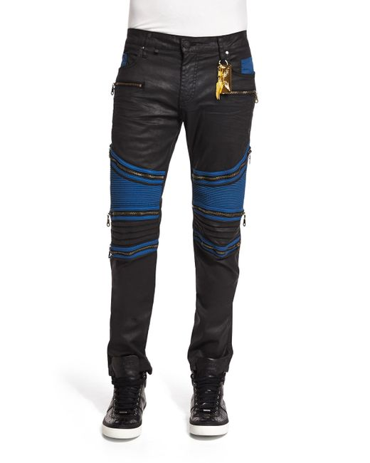 Womens Black Coated Jeans