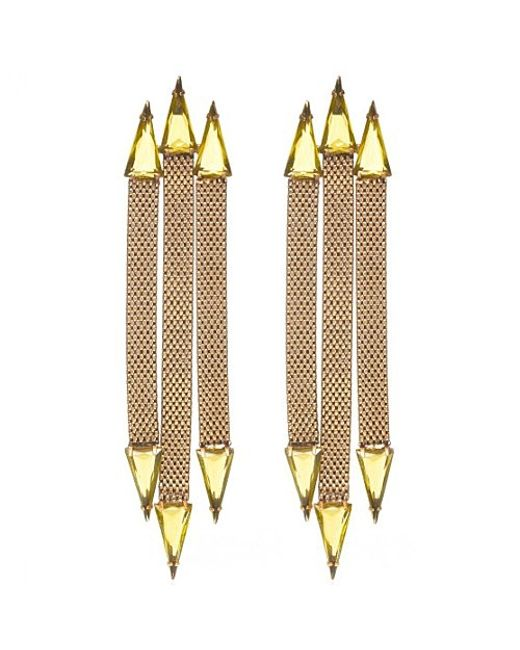 Nicole Romano | Metallic Trident Earrings | Lyst