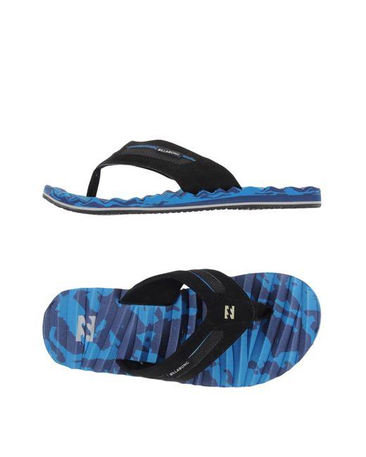 Billabong | Blue Toe Strap Sandal for Men | Lyst