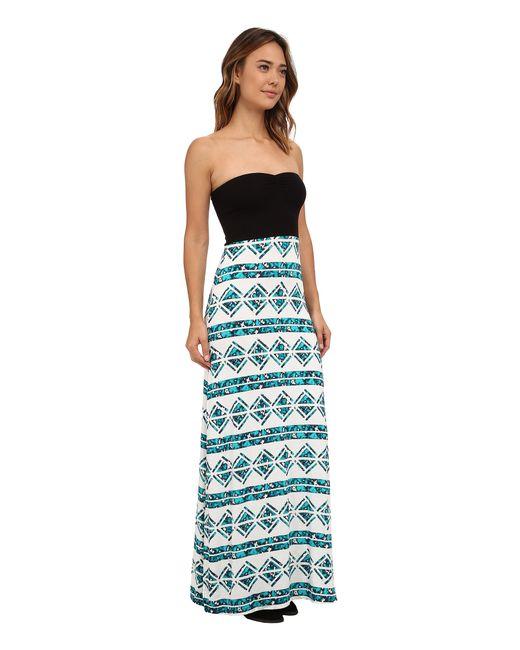 Hurley   Green Tomboy Maxi Strapless Dress   Lyst