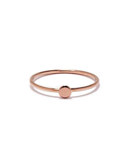 Bing Bang   Pink Tiny Circle Ring   Lyst