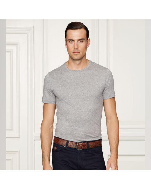 Ralph Lauren Purple Label | Gray Pima Cotton Lisle T-shirt for Men | Lyst