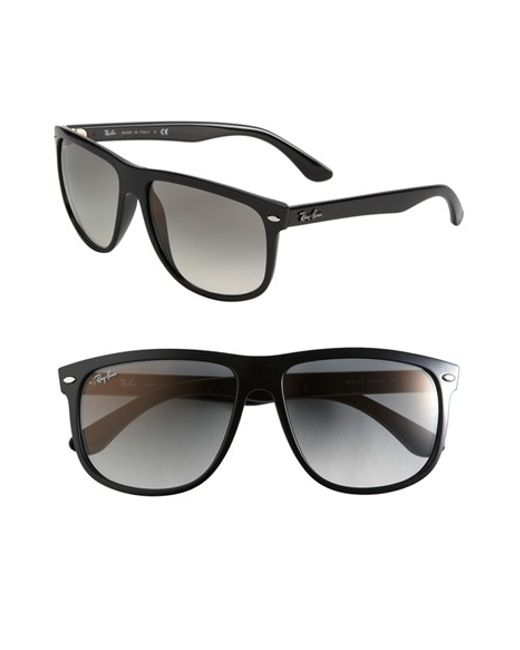 Ray-Ban | Black 'boyfriend Flat Top Frame' 60mm Sunglasses | Lyst