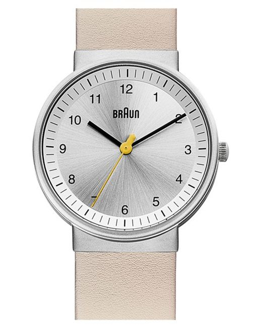 braun 39 classic 39 strap watch in beige for men cream. Black Bedroom Furniture Sets. Home Design Ideas