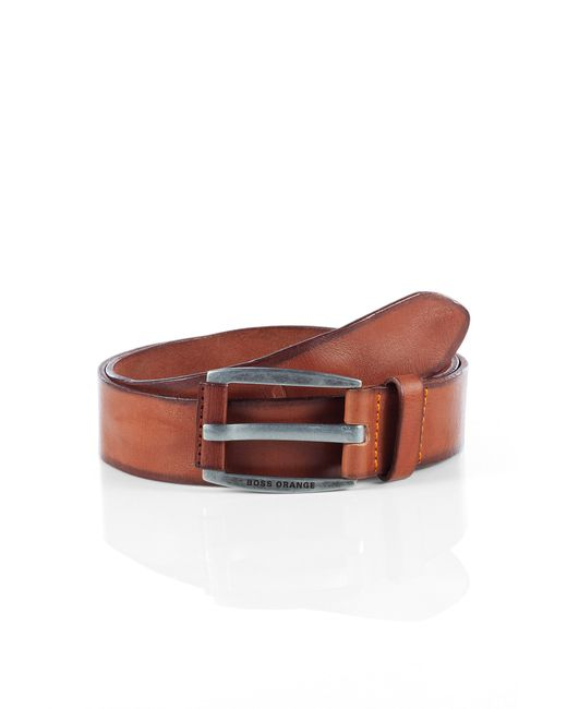BOSS Orange | Brown Leather Belt In Vintage Look: 'bakaba-n' for Men | Lyst