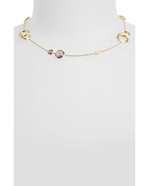Marco Bicego | Metallic 'jaipur' Semiprecious Stone Collar Necklace | Lyst