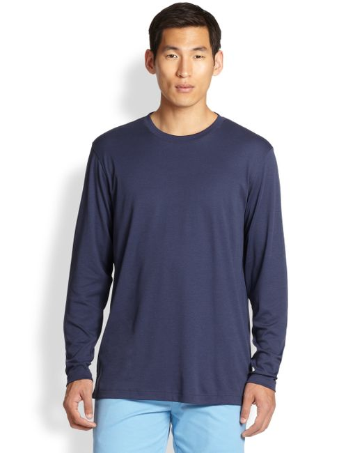 Saks Fifth Avenue | Blue Long-sleeved Tee for Men | Lyst